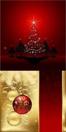 free vector Beautiful christmas ball background vector