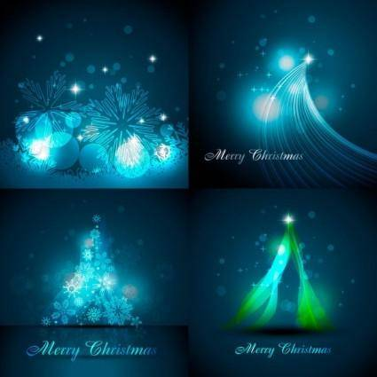 free vector Fantastic christmas snowflake background vector