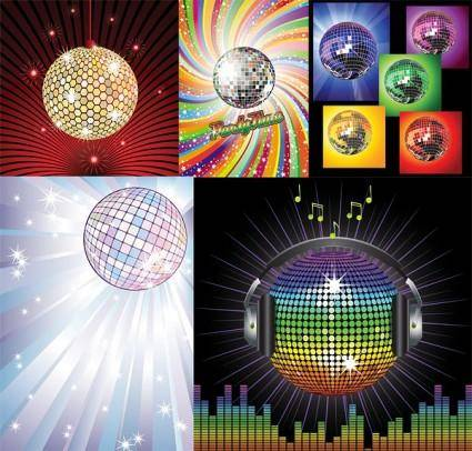 Vector disco crystal ball