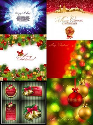 free vector Beautiful christmas background vector vector