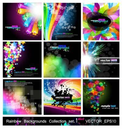 free vector Symphony of the background vector fashion glare 1