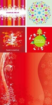 free vector Festive christmas card background vector