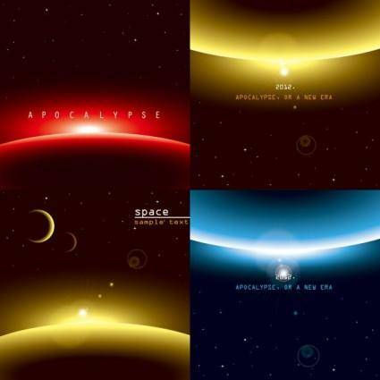 free vector Background of three brilliant dynamic effects vector