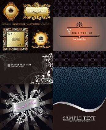 free vector Beautiful decorative background vector