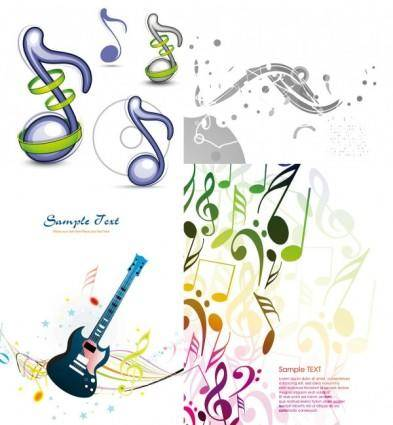 Background musical elements vector