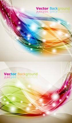 Brilliant dynamic effects background vector
