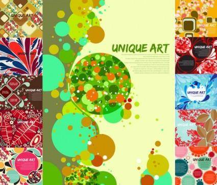 free vector Multielement fine background vector