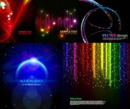 free vector 5 cool glare background vector