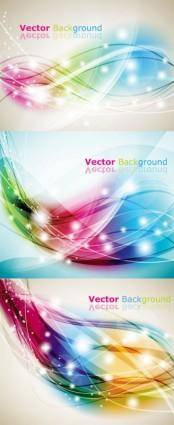 3 dream dynamic lines of the background vector