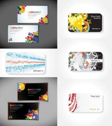 The trend of the card background vector