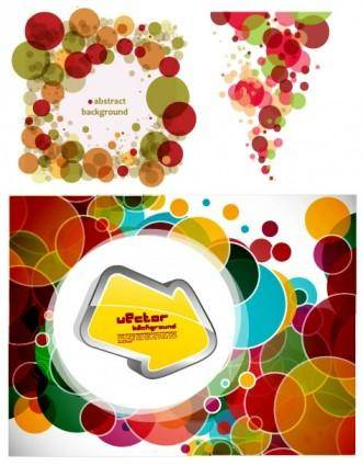 3 brilliant circle circle background vector