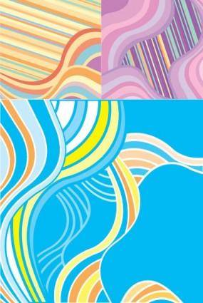 free vector Fashion vector wave background