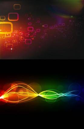 free vector 2 cool glare background vector