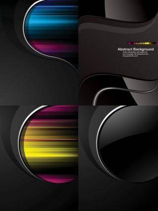 Dynamic trend of the black background vector