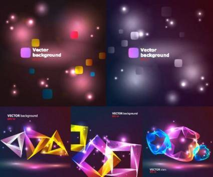 free vector Bright cool light vector background
