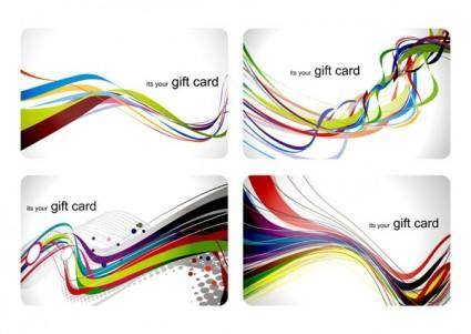 Fun gift card dynamic lines of the background vector