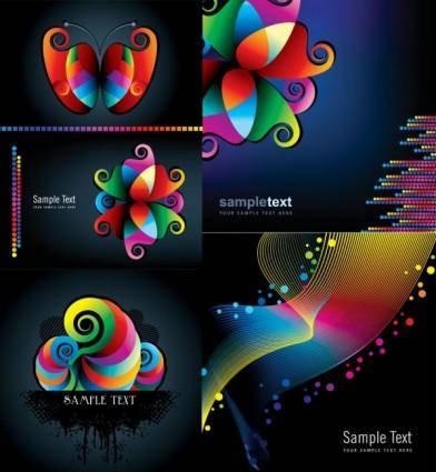 Symphony background vector graphic