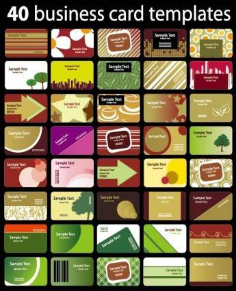 A variety of card background vector