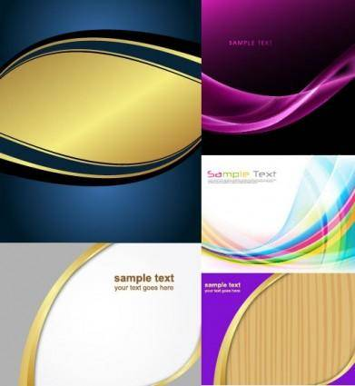 free vector Several dynamic lines of the background vector