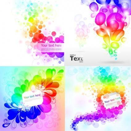 free vector Colorful colorful background pattern vector
