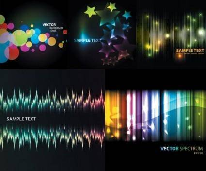 free vector Symphony 5 beautiful light vector background