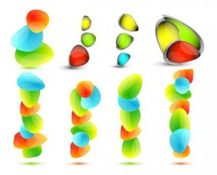 free vector Vector colorful small stones