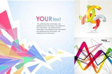 free vector Background color trend vector