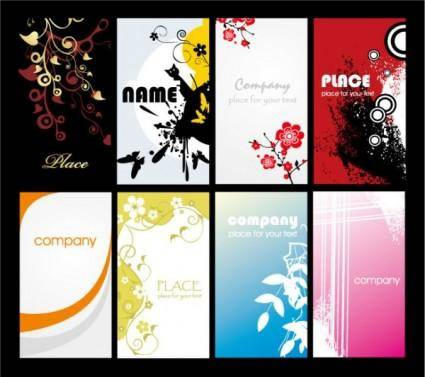 Both the simple and the trend card background vector background