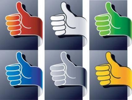 free vector Ribbon vector vertical thumb gesture