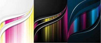 free vector Vector background color flow lines