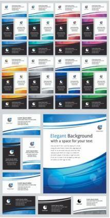 free vector Simple business card background vector