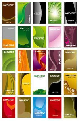 free vector Card background vector set of useful