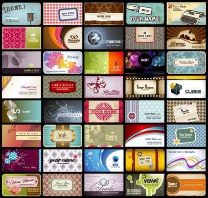 free vector Card background pattern vector