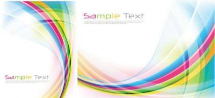 free vector Rainbow vector background flow lines