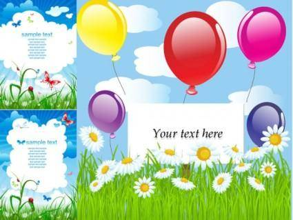 Summer theme card background vector