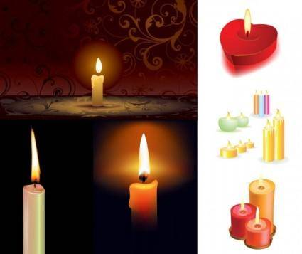 free vector 5 candles vector