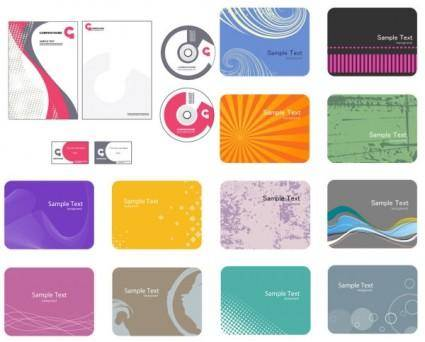 Card background color pattern vector