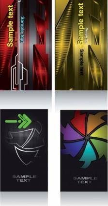 The concept of the card background vector fashion