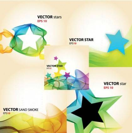 Colorful vector background flow