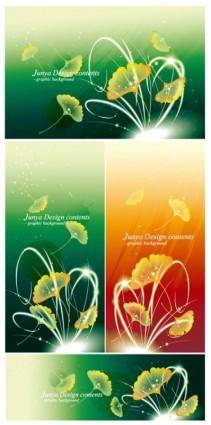 free vector Ginkgo leaves falling fantasy background