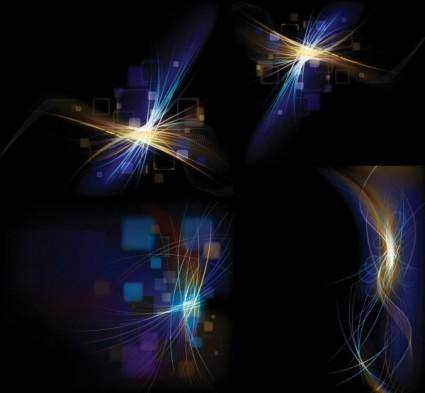 free vector Background vector lines glare