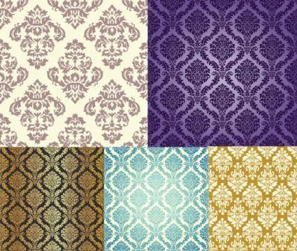 free vector 5 gorgeous pattern vector background