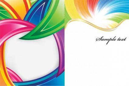 Colorful vector background lines