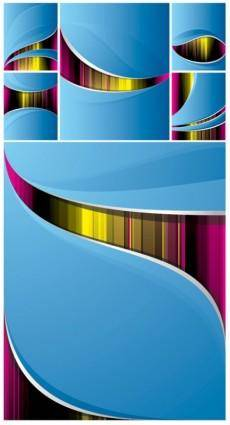 Symphony of dynamic lines of the background vector