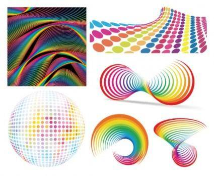 Colorful background pattern vector 16415
