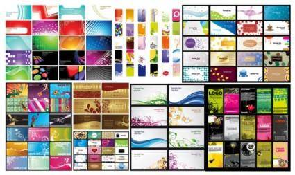 free vector N a variety of card business card background vector