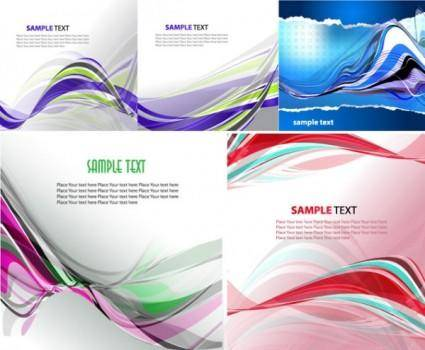 Wavy line background vector