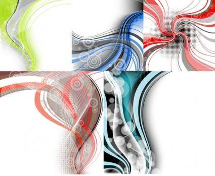 free vector In particular the dynamic lines of the background vector 2