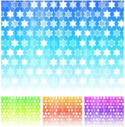 free vector Fashion colorful background vector hexagonal