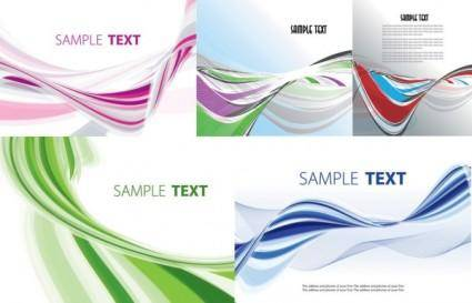 free vector Beautiful vector background distortion of lines